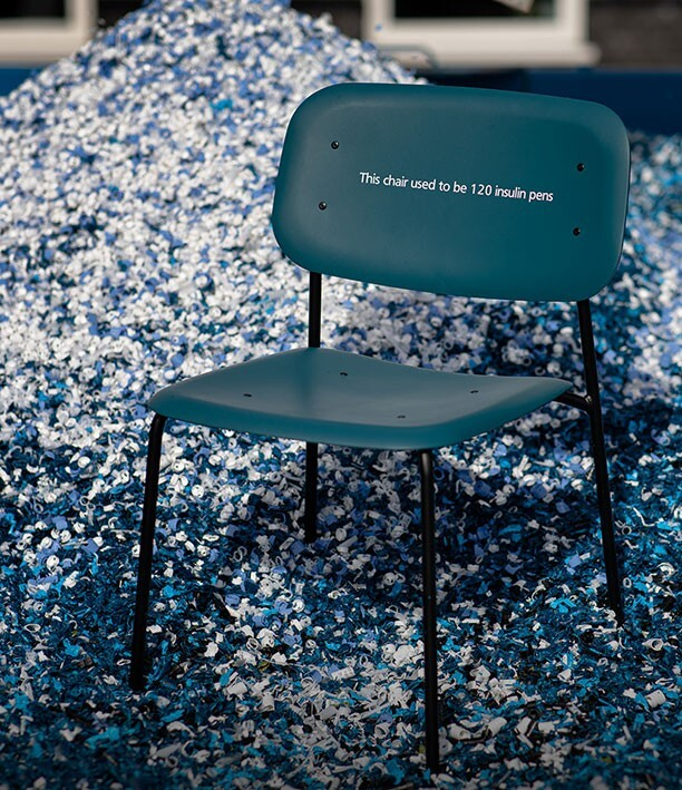 Novo Pen recycled Chair | All-Diabetes Pro Cycling Team | Type 1 Diabetes | Team Novo Nordisk